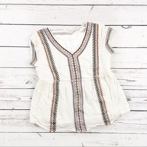 Spirit Hwy Boho Embroidered top SIze Small